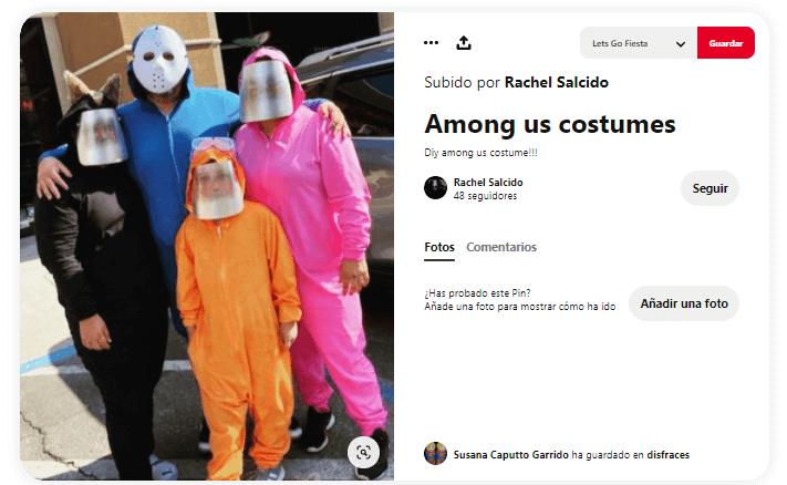 disfraz en familia carnavales among us casero