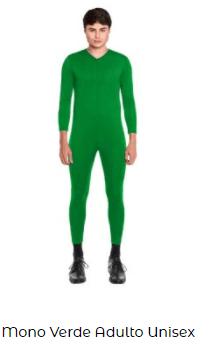 mono disfraz casero among us verde hombre