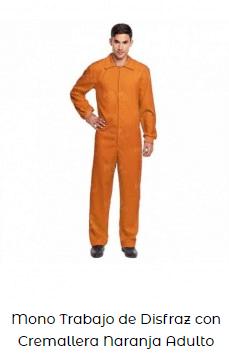 mono disfraz casero among us naranja adulto