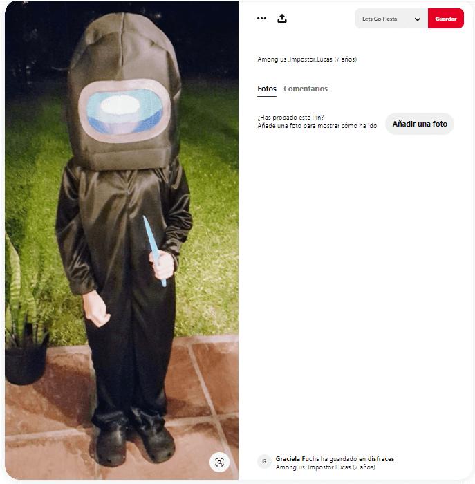 disfraz among us para niños