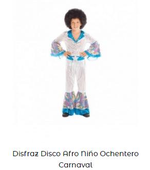 disfraz creativo para niño música disco ochentera