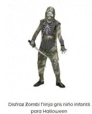 disfraz zombie ninja hombre adulto