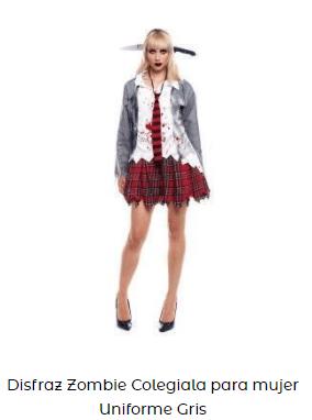 disfraz de zombi mujer estudiante