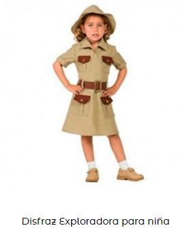 disfraz exploradora niña
