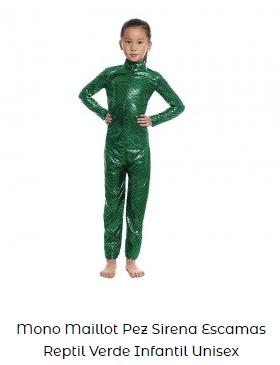 disfraces de carnaval originales mono verde alien