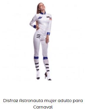 disfraces de carnaval originales astronauta mujer
