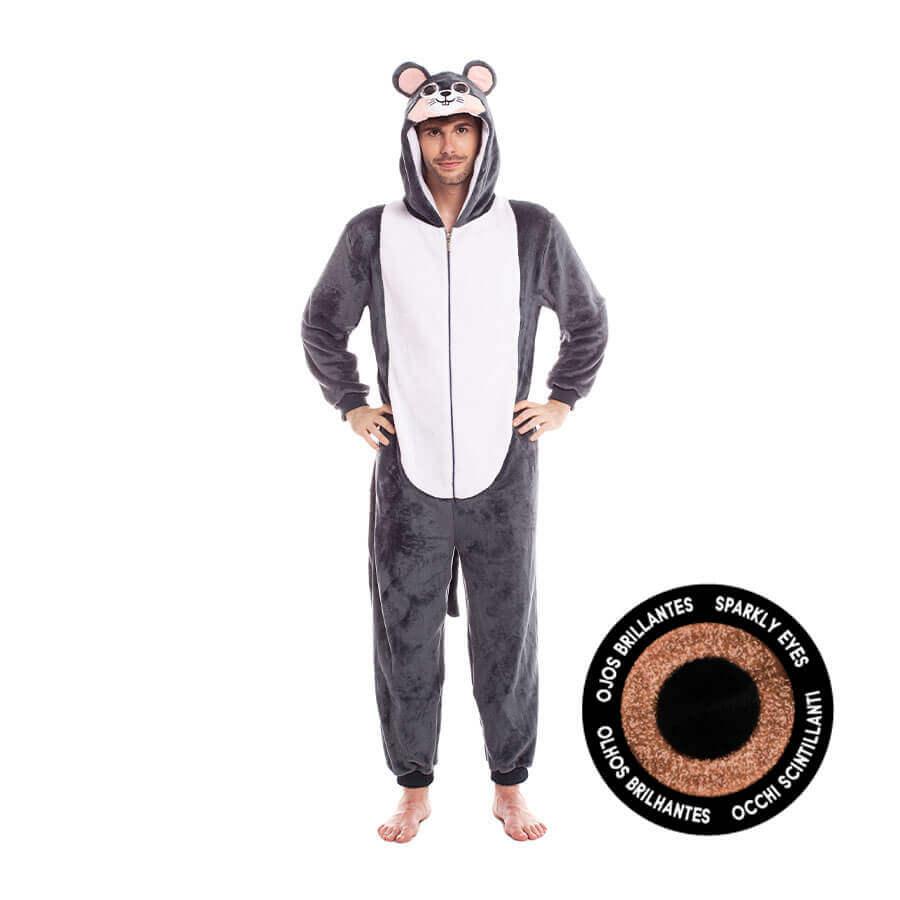 disfraz pijama ratón para adulto