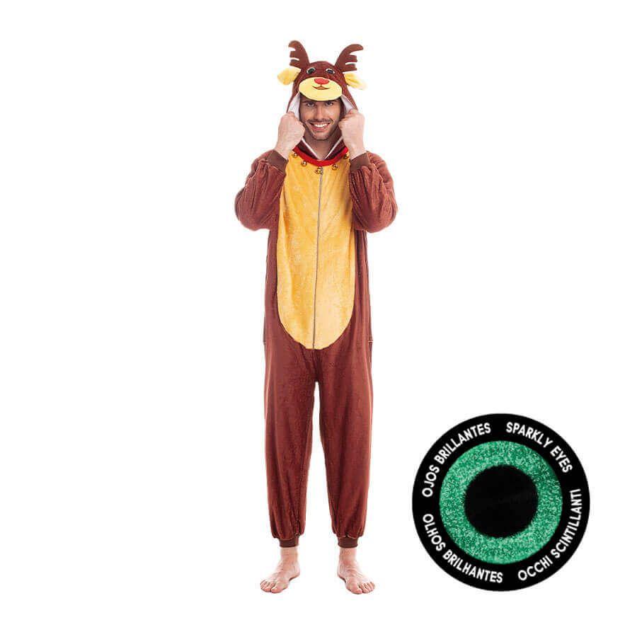 disfraz pijama reno para adulto