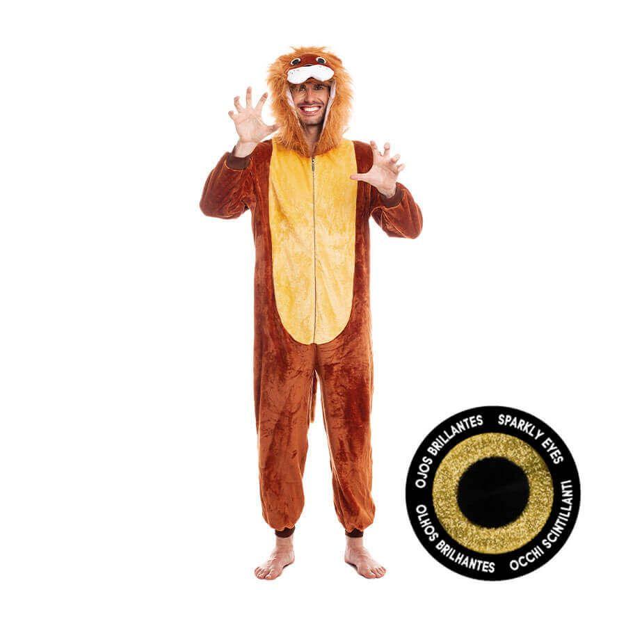 disfraz pijama rey león para adulto
