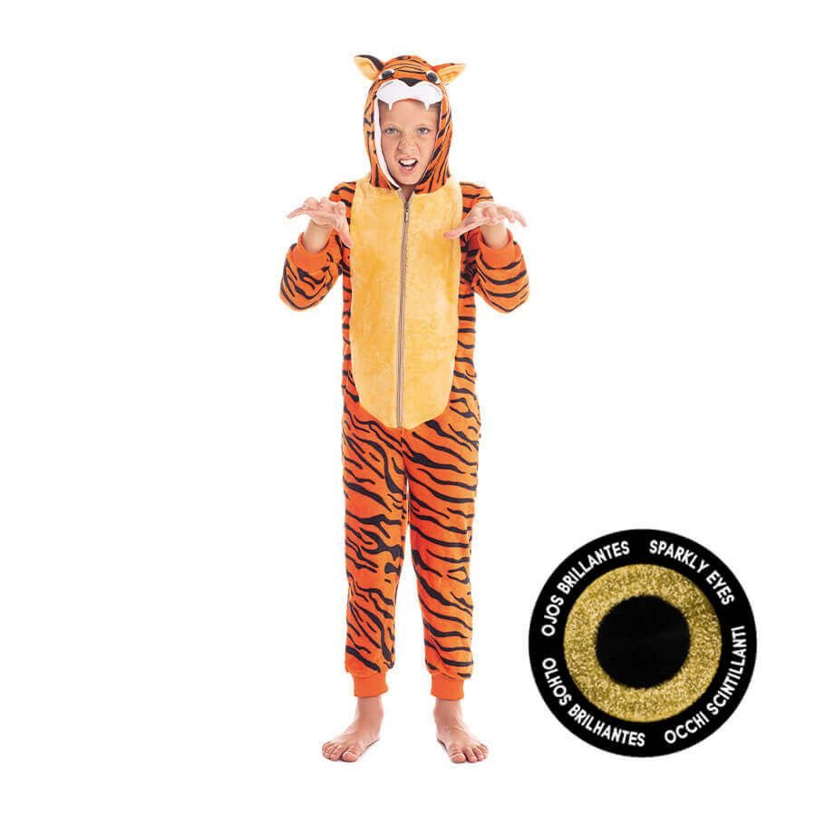 disfraces de carnaval originales pijama tigre infantil