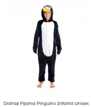 disfraz pijama pingüino para niños