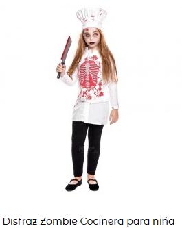disfraz zombi niño cocinero cheff