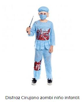 disfraz zombi niño cirujano médico