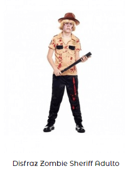 disfraz zombi niño sheriff