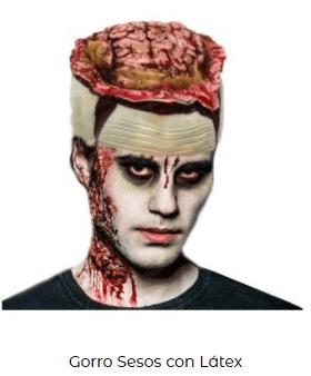 gorro sesos disfraz de zombi