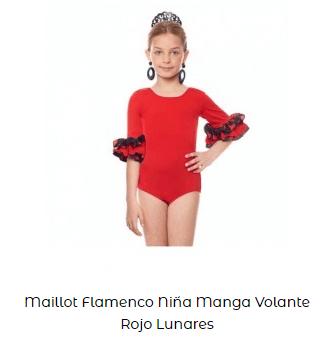 maillot flamenco rojo con altura rosalía con volantes