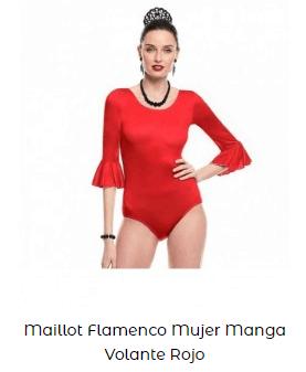 maillot flamenco rojo con altura rosalía
