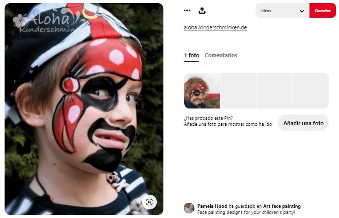 maquillaje fantasía niño pirata
