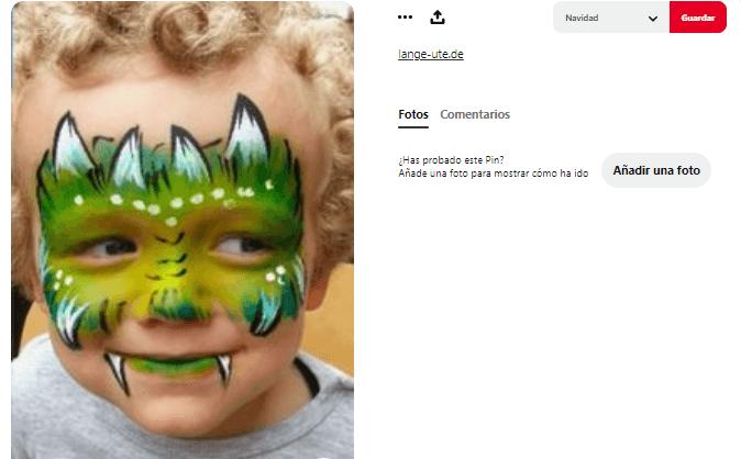 maquillaje fantasía niño
