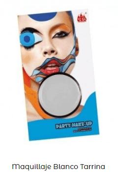 maquillaje base blanca disfraz zombi