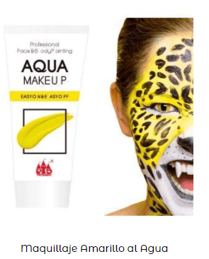 maquillaje cara amarillo
