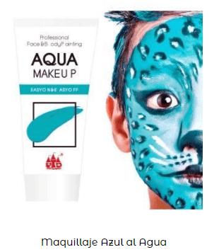 maquillaje cara azul