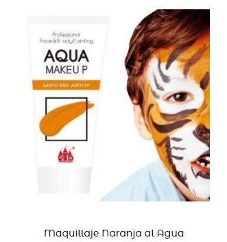 pintura cara naranja