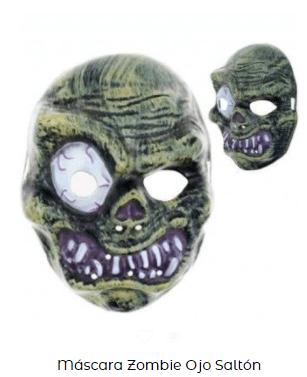 máscara disfraz de zombi