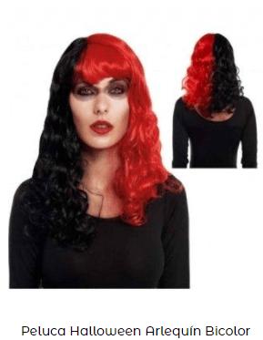 pelo mujer arlequín Halloween