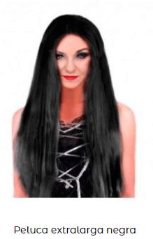 peluca morena disfraz Rosalía