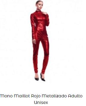 mono maillot metalizado Rosalía bagdad disfraz
