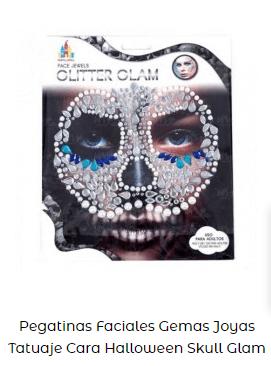 pegatinas faciales maquillaje carnaval