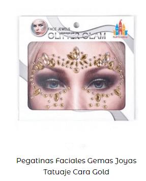 pegatinas faciales maquillaje carnaval fantasía