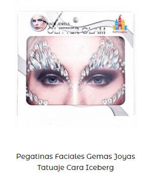 pegatinas faciales maquillaje fantasía