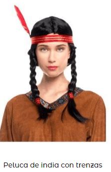 peluca trenzas india morena