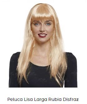 peluca rubia Rosalía bagdad disfraz