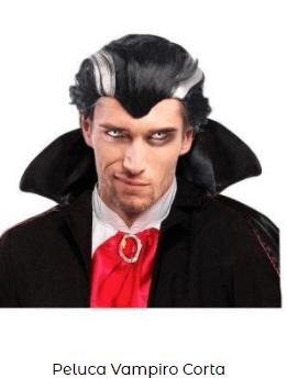 peluca vampiro hombre económica