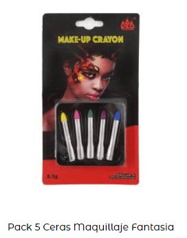set maquillaje cara disfraz fantasía carnavales