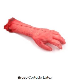 postizo disfraz zombi brazo sangre