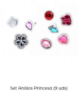 set anillos disfraz rosalía