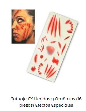 tatuaje pegatinas fx maquillaje zombi arañazos
