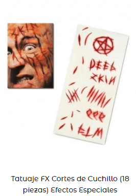 tatuaje pegatinas fx maquillaje zombi heridas