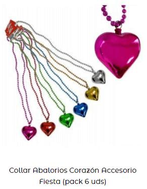 regalo collar corazón día de los enamorados
