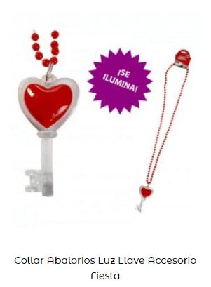 regalo collar llave corazón día de los enamorados