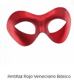 antifaz veneciano rojo san Valentín