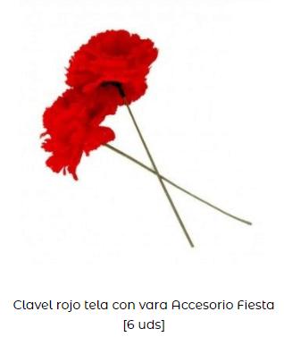 flores claveles rojos san Valentín