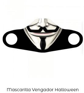 cubre mascarilla covid original V de Vendetta