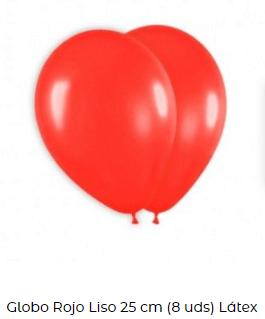 decoración día san Valentín globos rojo