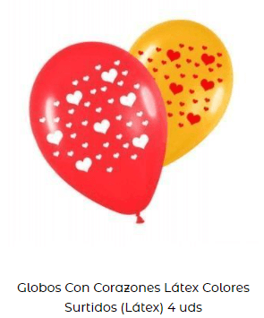 decoración día san Valentín globos