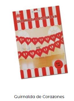 Día san Valentín guirnalda corazones